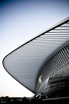 Gare des Guillemins by Santiago Calatrava (Via: www.pinterest.com/AnkApin/abstract-piece-of-tecture)  #architecture ☮k☮