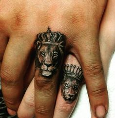 Lion Tattoo: Symbolism and attractive lion tattoo designs for both sexes. - sandy - Lion Tattoo: Symbolism and attractive lion tattoo designs for both sexes. Neue Tattoos, Body Art Tattoos, Sleeve Tattoos, Tattoo Art, Tatoos, Tattoo Quotes, Female Tattoos, Back Of Hand Tattoos, Tattoo Rings