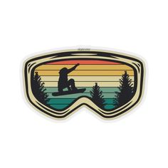 Snowboarder Jumping Sticker, Goggles Vintage Retro Mountain Boarding L – Starcove Fashion Homemade Stickers, Diy Stickers, Sticker Ideas, Wall Mural Decals, Vinyl Decals, Outdoor Stickers, Tumblr Stickers, Skateboard Art, Aesthetic Stickers