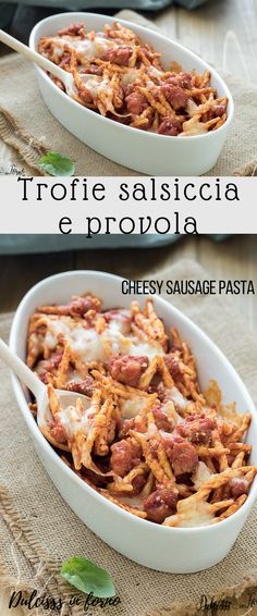 Pasta Recipes, Salad Recipes, Cooking Recipes, Healthy Recipes, Spinach Pasta, Pesto Pasta, Pasta Food, Cheesy Sausage Pasta, Baked Pasta With Sausage