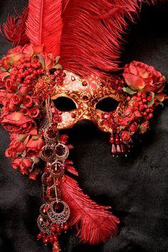 Crimson Rose by Midnight Masquerade Masks artist Katrina Pallon.  Stunning!