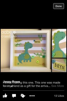 Felt Dino box frame