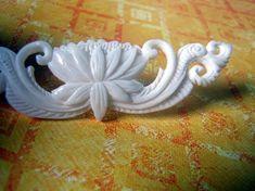 Balinese Sacred Lotus Carved Bone Pendant by Indounik on Etsy. $17.50 #jewelrysupplies #bonecarving