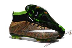 08da99b621a83 2015 Nike Soccer Boots Mercurial Superfly Colorful ACC FG brown white black  Tacos De Fútbol