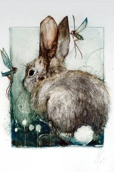 Forest Dwellers Rabbit by BonnieBews on Etsy