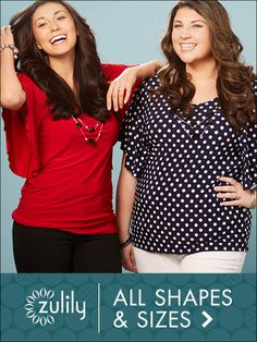 Check out zulily's curated selection of Plus-Size Apparel discounted up to 70% off! New styles are added daily, sure to help you build your wardrobe at a fraction of the cost. Women's tops, dresses, pants, shoes & more!