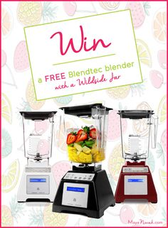 You can win a brand new Blendtec blender with a Wildside jar on my website this month. Just click below to enter the launch giveaway: http://www.mayanovak.com/blendtec-giveaway