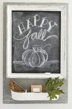 Happy Fall Chalkboard  |  www.andersonandgrant.com