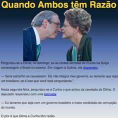 Quando Ambos têm Razão ➤ http://josiasdesouza.blogosfera.uol.com.br/2015/10/19/lamentacao-torna-dilma-e-cunha-lamentaveis ②⓪①⑤ ①⓪ ②⓪ #BrazilCorruption