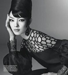 Fei Fei Sun by Steven Meisel for Vogue Italia January 2013 | More here: http://mylusciouslife.com/photo-galleries/models-magazines-campaigns-and-editorial-shoots/middle-east-indian-asian-models/