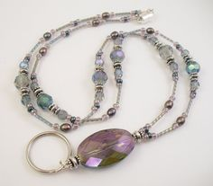 Beaded lanyard with focal bead - I think I have the mats for this one!