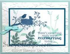 Stampin' Up! Cards - 2015-06 Class - World of Dreams, Perfect Pennants and Remembering Your Birthday Stamp Sets