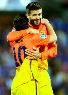Messi and Piqué; Getafe 15-09-12