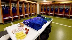 A general view of the Japan locker room