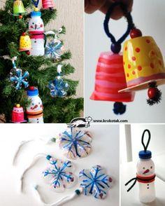 decoracion navidad reciclar plastico krokotak DIY muy ingenioso 1