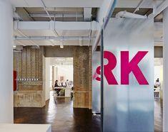 SPARK's beijing office is partitioned using metal-clad swivel doors
