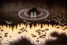 Water spirit, Theodor Kittelsen