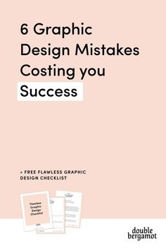 6 Graphic Design Mistakes Costing You Success Right Now | Strategic and Functional Graphic Design is vital for the success of your online business | Start implementing these tips today to increase your traffic + grow your business #graphicdesign #onlinebusiness #mistakes #strategy #blogger #solopreneur #entrepreneur