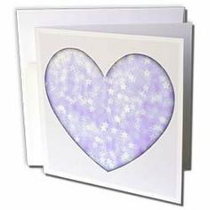 """Patricia Sanders Creations - Lavendars Stars Heart Fashion Art - Greeting Cards-6 Greeting Cards with envelopes by Patricia Sanders. $10.49. Lavendars Stars Heart Fashion Art Greeting Card is a great way to say """"thank you"""" or to acknowledge any occasion. These blank cards are made of heavy duty card stock with a gloss exterior and a matte interior for smudge free writing. Cards are creased for easy folding and come with white envelopes. Available in sets of 6 and 12."""
