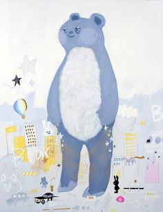 Standing Up Bear by Tomoko Nagai - Contemporary Japanese Art Collection by Jean Pigozzi