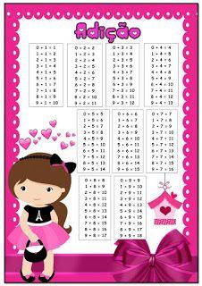 Atividades para Jardim: Cards com as tabuadas de adição e subtração... School Frame, Thing 1, Math Worksheets, Word Search, Education, Words, Reading Activities, Learning Disabilities, Learning Activities