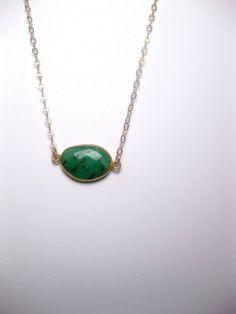 Natural Green Stone Australian Chrysoprase by FashionCrashJewelry, $38.00 #FashionCrashJewelry #gemstone #necklace