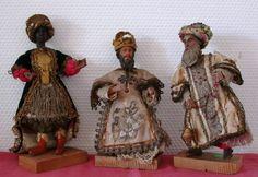 Heilige 3 Könige um 1800 barocke Klosterarbeit Caspar Melchior Balthasar