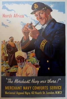 North Africa WWII, 1940s - original vintage poster by Charles Wood listed on AntikBar.co.uk