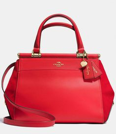 5b6bc8bea7 COACH X SELENA GOMEZ MIXEDLEATHERS GRACE SATCHEL #Dillards. All American  Bags · Best Leather Handbags