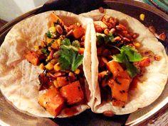 Calabaza Picante Taco (Spicy Roast Pumpkin and Corn with Pepitas)