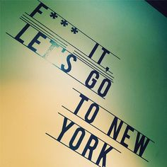 Happy Customer, Travel journalist Camilla and her new (very fitting) 'Let's go to New York!' Wall Sticker!
