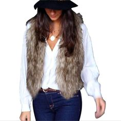 Winter Women Faux Fur Waistcoat  Price $28.94 AUD Click the link in my bio ---> @soulkreedclothing and grab one today while stocks last! Sign up to our newsletter and get 15% off all purchases. Item Type: Outerwear & Coats Outerwear Type: Vest Gender: Women Decoration: None Clothing Length: Short Sleeve Style: Regular Pattern Type: Solid Closure Type: Covered Button Style: Casual Material: Acetate Collar: V-Neck  #womensfashion #womensstyle #womenstyle #womenswear ..
