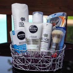 Father's Day gift basket idea - gifts for him - mens gift basket - sample - Orchid Gift Creations - email us to place your order now