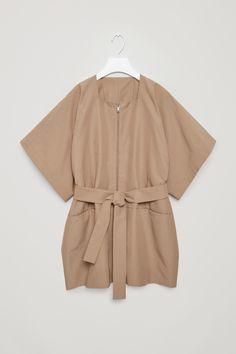 COS | Celebrating 10 years | Technical cotton-mix kimono coat