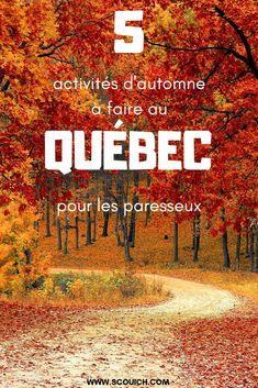 Voyage au Québec |L'automne c'est la saison pour les grandes promenades dans le bois. C'est aussi le moment où on entame notre hibernation. Je sais que j'ai souvent l'air d'une hyperactive mais quand octobre arrive, j'ai envie de tranquillité et de zénitude. Voici donc 5 façons de profiter de l'automne pour les paresseux.