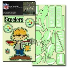 Pittsburgh Steelers Lil' Buddy Glow In The Dark Decal Kit