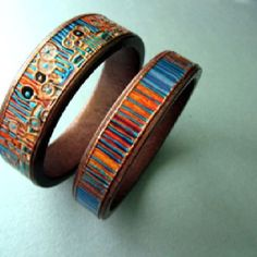 Wooden hand made jewelry from Armenia