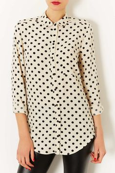 Polka dot top.