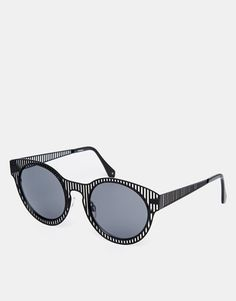 48c889809cd Image 1 of ASOS Sunglasses With Laser Cut Stripe Minimal Fashion