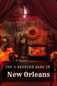 "Check out this list of the top 5 haunted bars in New Orleans. ""Spirits"" abound in New Orleans, the metaphysical and the liquid kind. New Orleans Bars, Visit New Orleans, New Orleans Louisiana, Louisiana Usa, New Orleans Vacation, New Orleans Travel, New Orleans Bachelorette, Just Dream, Haunted Places"