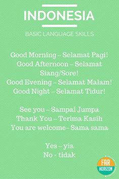 REBLOGGED  Bahasa Indonesia  Basic Indonesian Words. #indonesian #language #ba