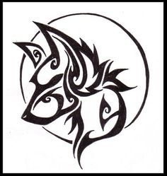 tatouage tribal loup                                                                                                                                                                                 Plus