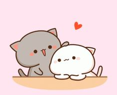 February 05 2019 at Cute Love Pictures, Cute Love Gif, Cute Cat Gif, Cute Images, Cute Couple Cartoon, Cute Love Cartoons, Cute Couple Art, Cat Couple, Cute Animal Drawings