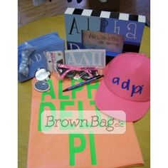 Alpha Delta Pi Bid Day packages available in stores or online today! Bid Day Gifts, Alpha Delta, Online Gifts, Sorority, Packaging, Wrapping