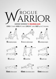 Rogue Warrior will make you feel stronger faster provided you use full form. Full Body Weight Workout, Summer Body Workouts, Fun Workouts, Rogue Gym Equipment, Sweat Quotes, Workout Challenge, Darbee Workout, Workout Fitness, Football Workouts