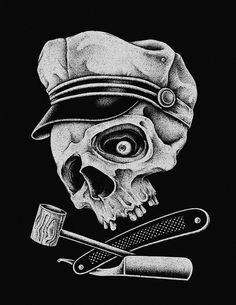 Sailor Skull by inkcorf , via Behance
