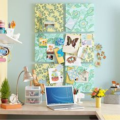 I want to do this in my craft room. So cute!
