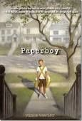 Paperboy. By Vince Vawter. Newbery Honor book 2014 -- Set in 1959, Memphis...He can barely say a word without stuttering, not even his own name. So when he takes over his best friend's paper route in July, he knows he'll be forced to communicate with the different customers.  He makes a friend or 2 along the way....and an enemy that puts his and a friend's life in danger.   *interlibrary loan