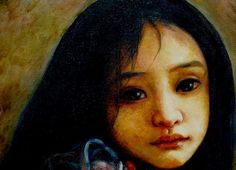 """Portraits - """"Young Girl"""" oil on canvas 2003 © Shijun Munns Oil Painters, First Story, Oil On Canvas, Mona Lisa, Original Art, Jasmine Tookes, Wall Art, Exhibit, Gallery"""