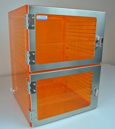 1500 Series Cleatech Desiccator, Two Door, UV Amber Acrylic with Optional Nitrogen Gas ports Lab Supplies, Stainless Steel Doors, Door Design, Clear Acrylic, Locker Storage, Amber, Vacuums, Cleaning, Cabinet